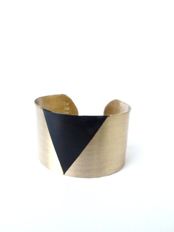 NEW ITEM Single Tri Brass Cuff by LairaLou on Etsy, $78.00