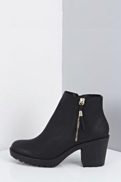 Amy Fringe Trim Block Heel Chelsea Boots | Boohoo