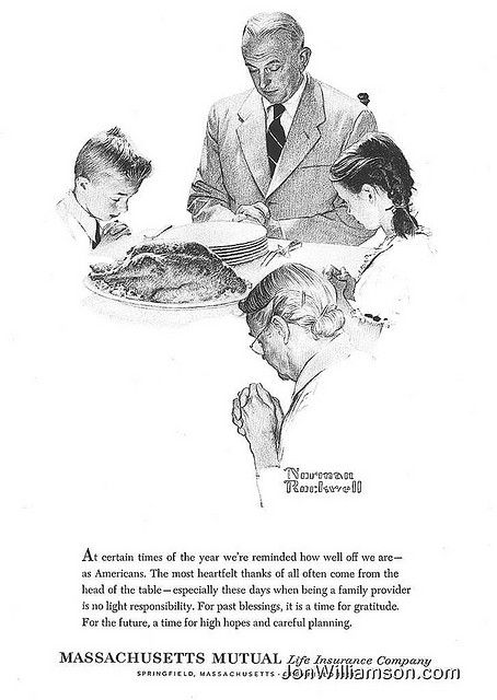 1954 Massachusetts Mutual By Norman Rockwell By X Ray Delta One Via Flickr