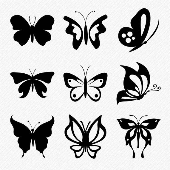 Photo of Butterfly SVG set, 9 beautiful butterflies cutting files for wall art and DIY projects