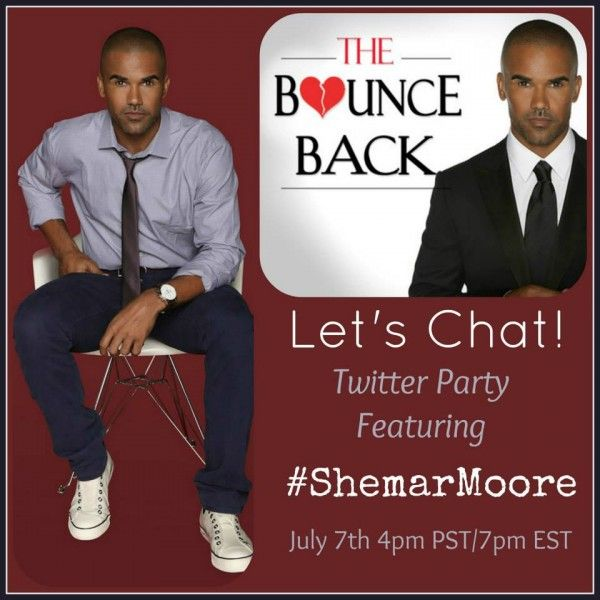 """The """"Bounce Back Project"""" Shemar Moore Live Chat Twitter Party"""