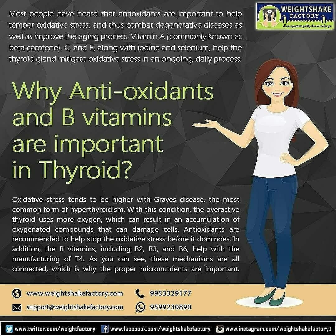WHY ANTI-OXIDANTS AND B VITAMINS ARE IMPORTANT IN THYROID ...