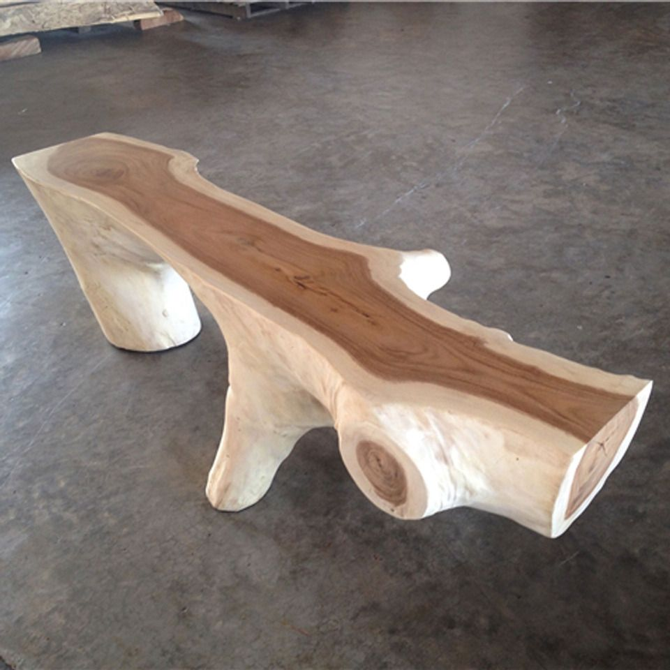 Phenomenal Nature Collection Funky Wooden Bench Ii In Natural Wood In Spiritservingveterans Wood Chair Design Ideas Spiritservingveteransorg