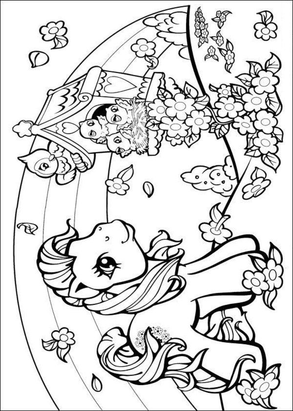girly coloring pages my little pony barbie mermaid
