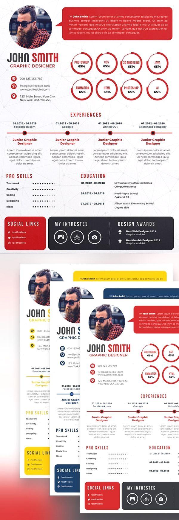 Pin by Fleta Mountain Resume Tips on Resume Design