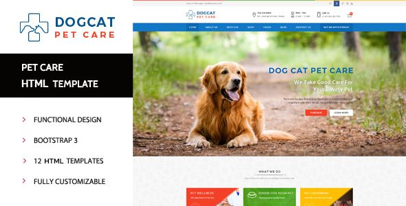 Pet Care - Veterinary HTML Template Pet care, Template and - health history template