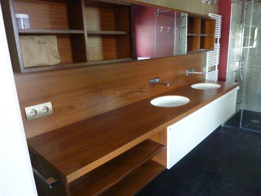 Mueble de baño en contrachapado de teka. | Muebles de baño ...