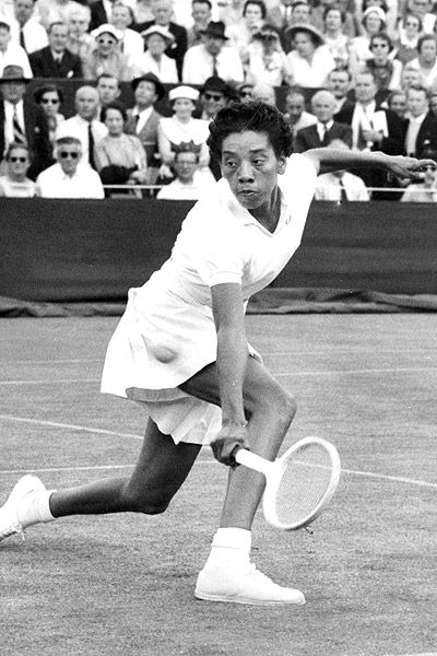 a biography of althea gibson an american tennis player Althea gibson was the first african-american tennis player to compete at the us national championships in 1950, and the first black player to compete at wimbledon in 1951 she also broke racial.