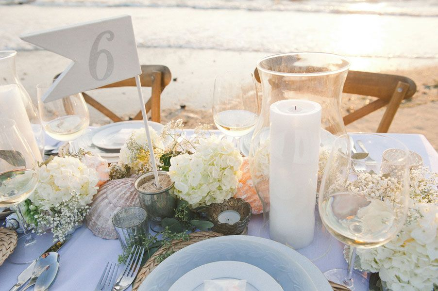 Gift From The Sea Wedding Reading: Salt Water Taffy Hues Sophisticated Beach Wedding