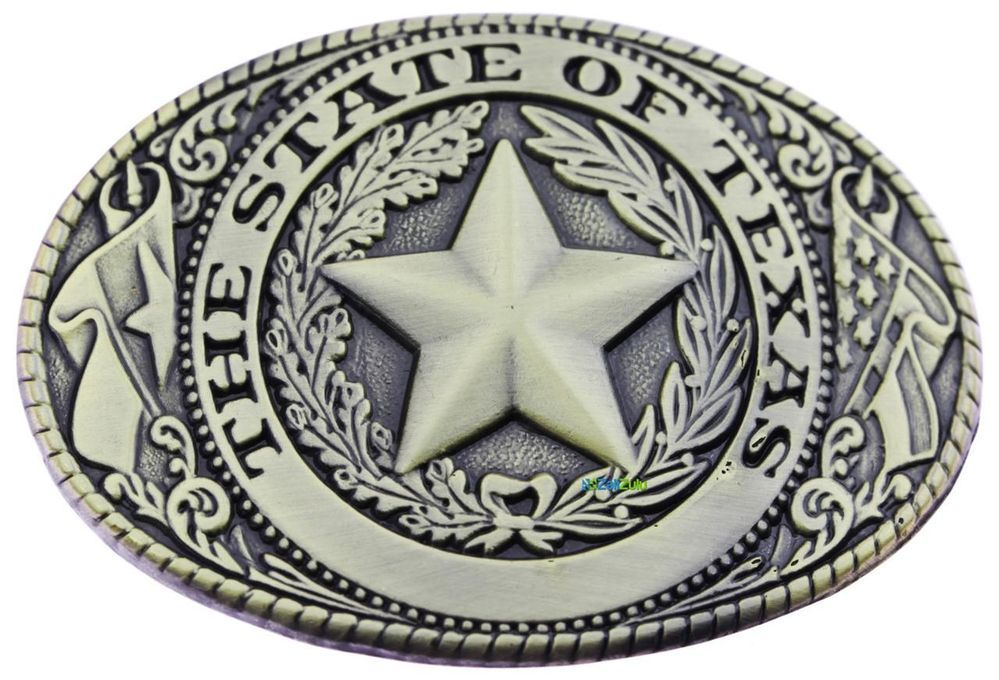 8964a19831e35 Texas Lone Star State Bronze Logo Western Rodeo Belt Buckle