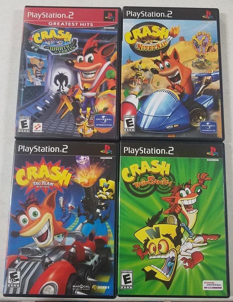 4 - Crash Bandicoot --- PS2 & Playstation 2 - Game