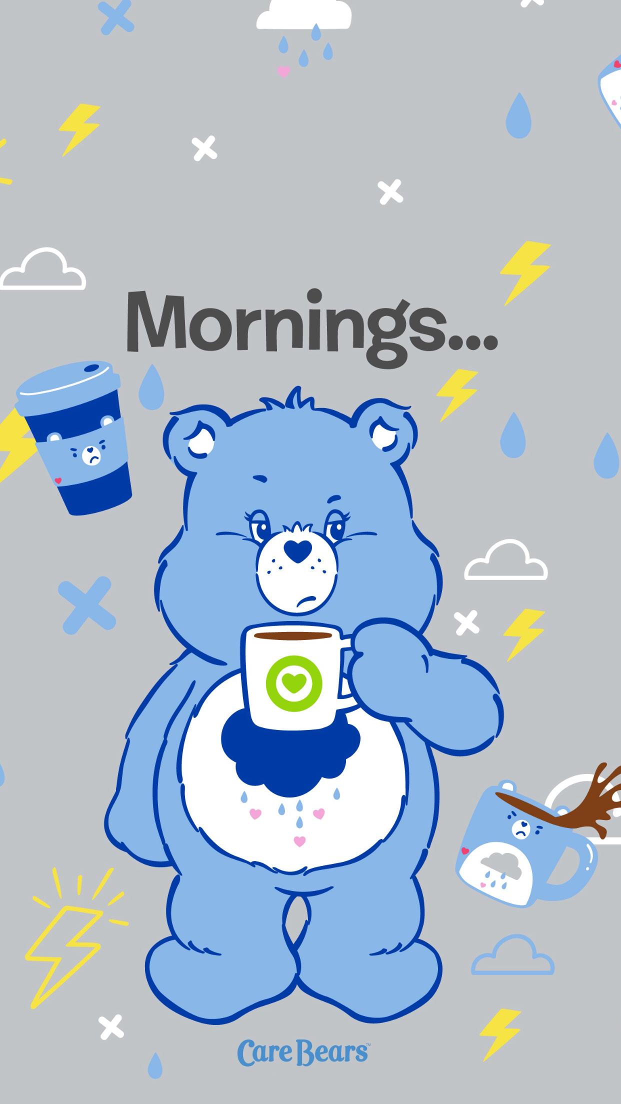 Pin By Soso1650 On Bisounours Bear Wallpaper Grumpy Care Bear Care Bears