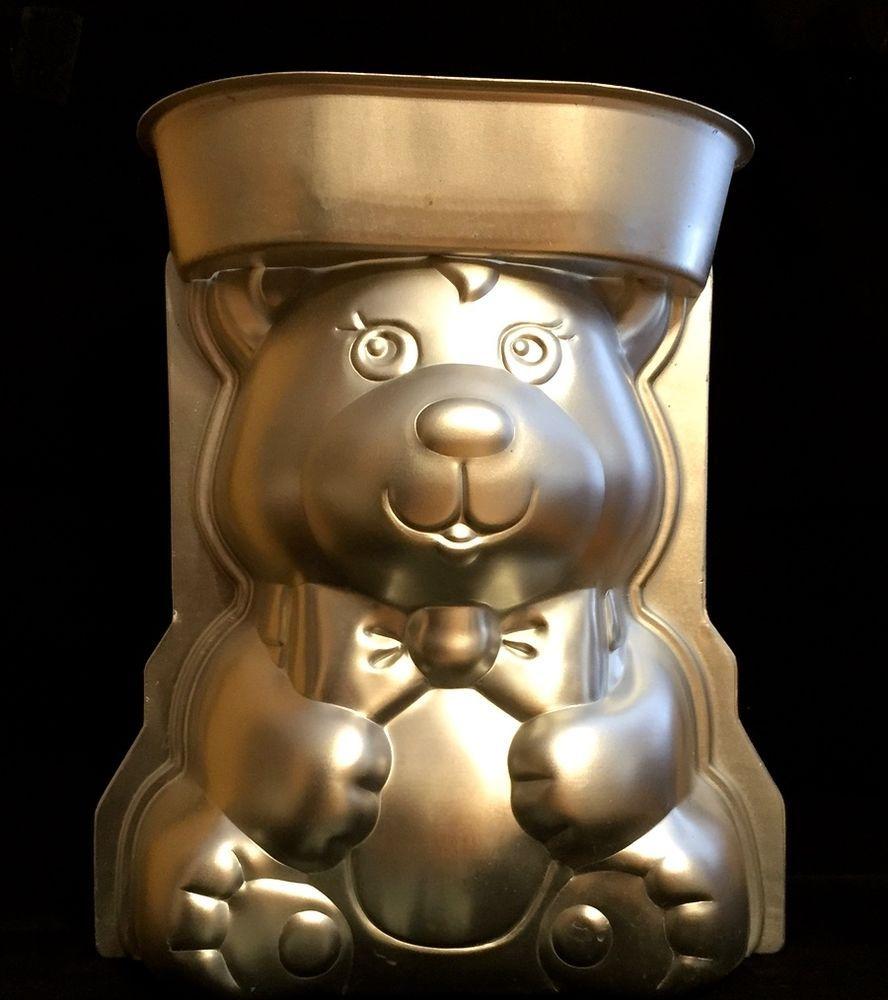 Bear cake pan vintage wilton 3d standup teddy bear