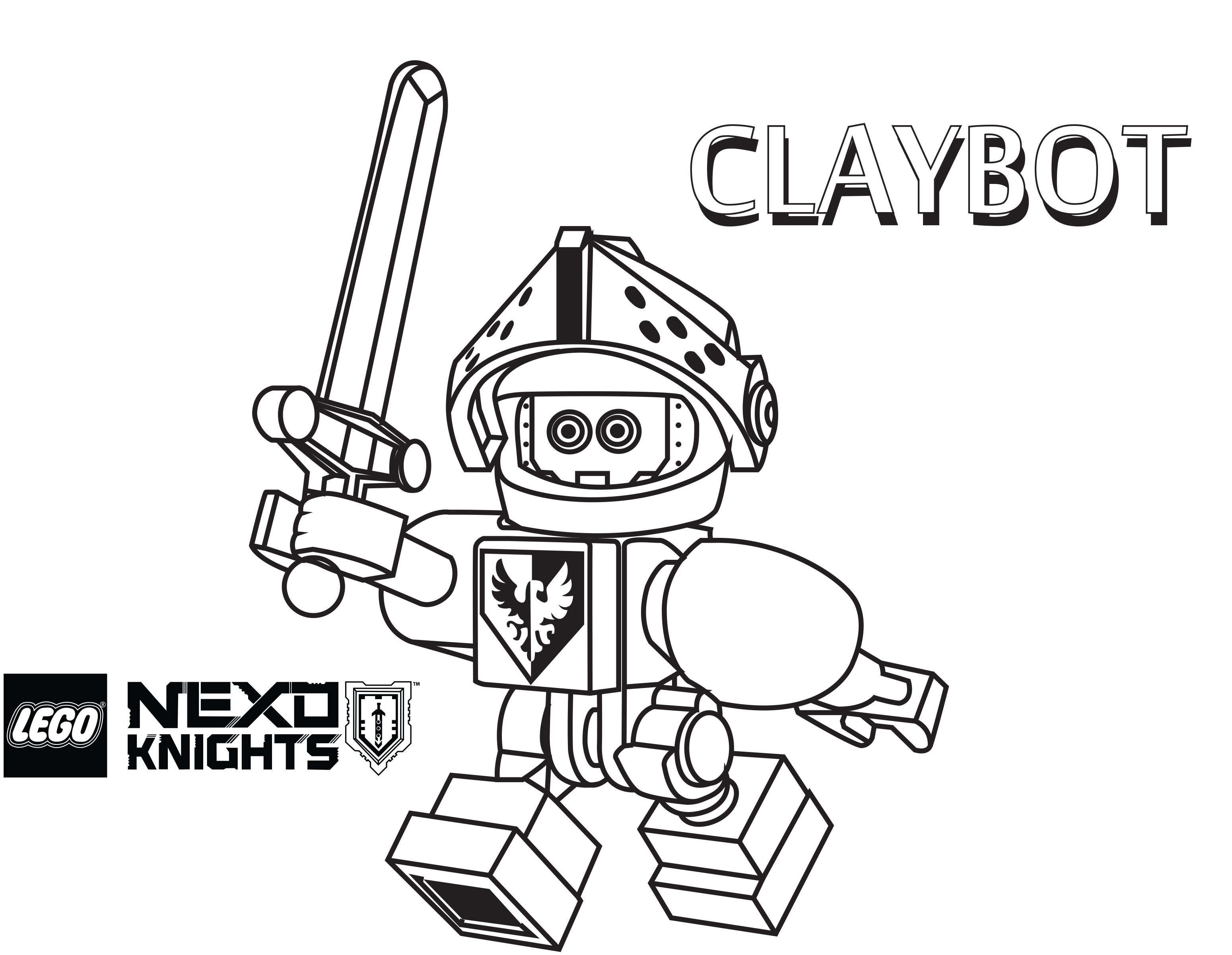 LEGO Nexo Knights Coloring Pages : Free Printable LEGO Nexo Knights ...