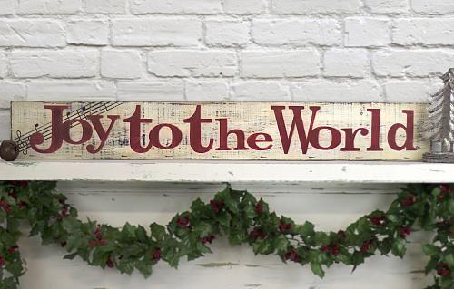 "Create A Feeling Of Nostalgia: ""Joy To The World"" Distressed Sign -- Create A Feeling Of"