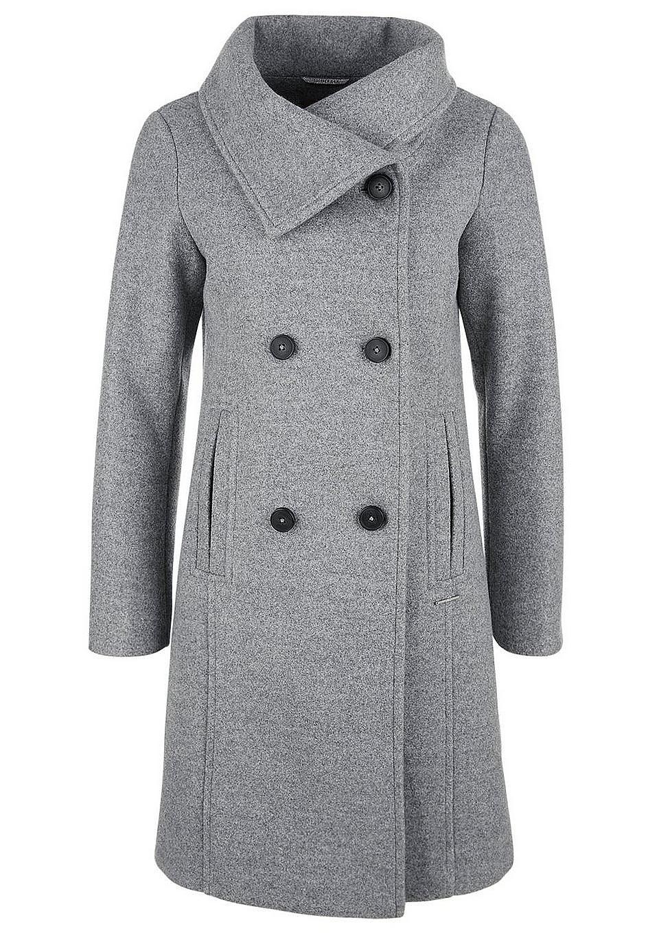 s.Oliver RED LABEL Doppelreihiger Mantel aus Wollmix #baur