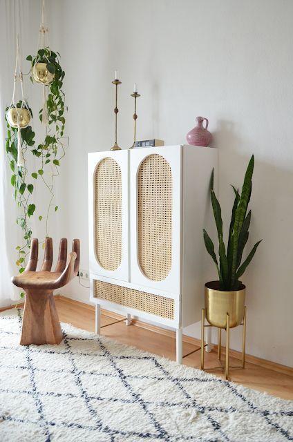 Diy Rattanschrank Ikea Ivar Hack Makeitboho Granny Chic Decor Furniture Hacks Ikea Diy