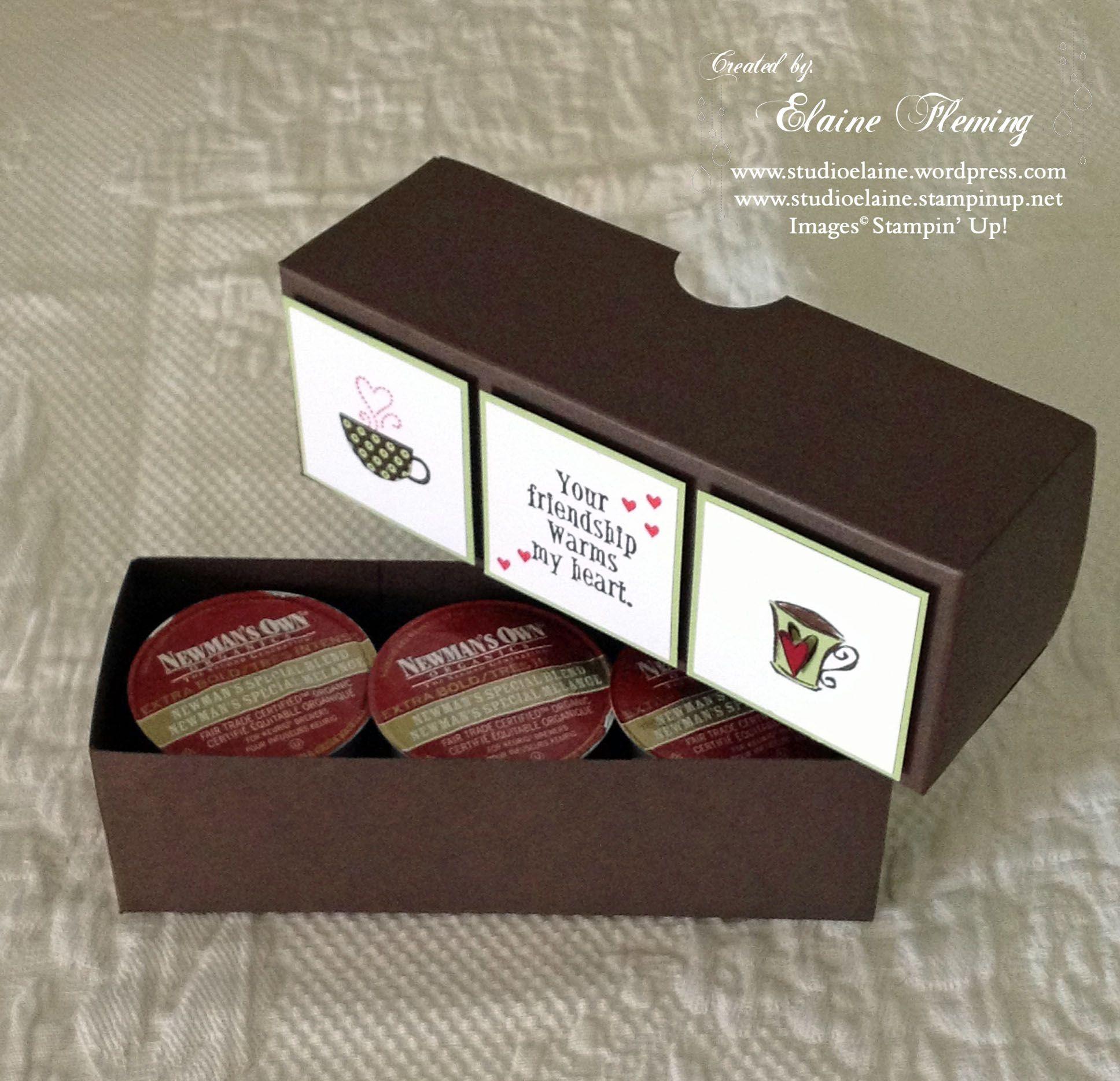 K Cup Box Your Friendship Warms My Heart Handmade Box Coffee Cards Box
