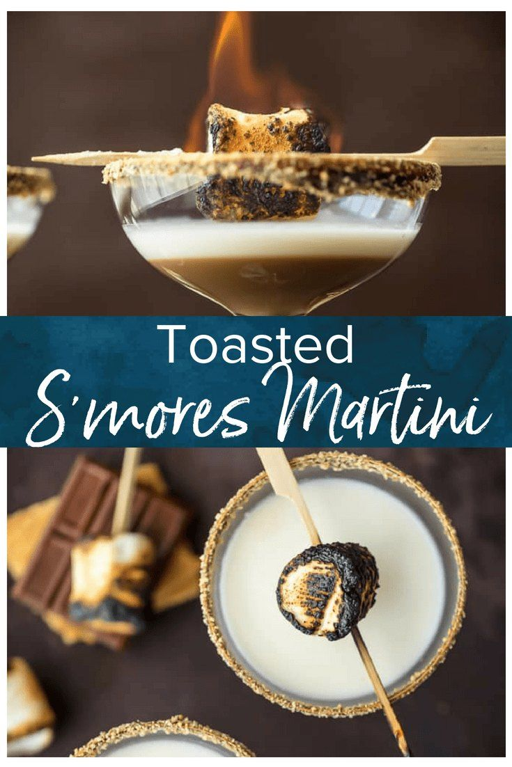 Toasted S'more Martini This TOASTED S'MORES MARTINI is as delicious as it is beautiful. With layers of cream, marshmallow vodka, and chocolate liqueur all you need is a graham cracker rim! This Marshmallow Vodka Martini is do fun and festive for Fall.#thecookierookie