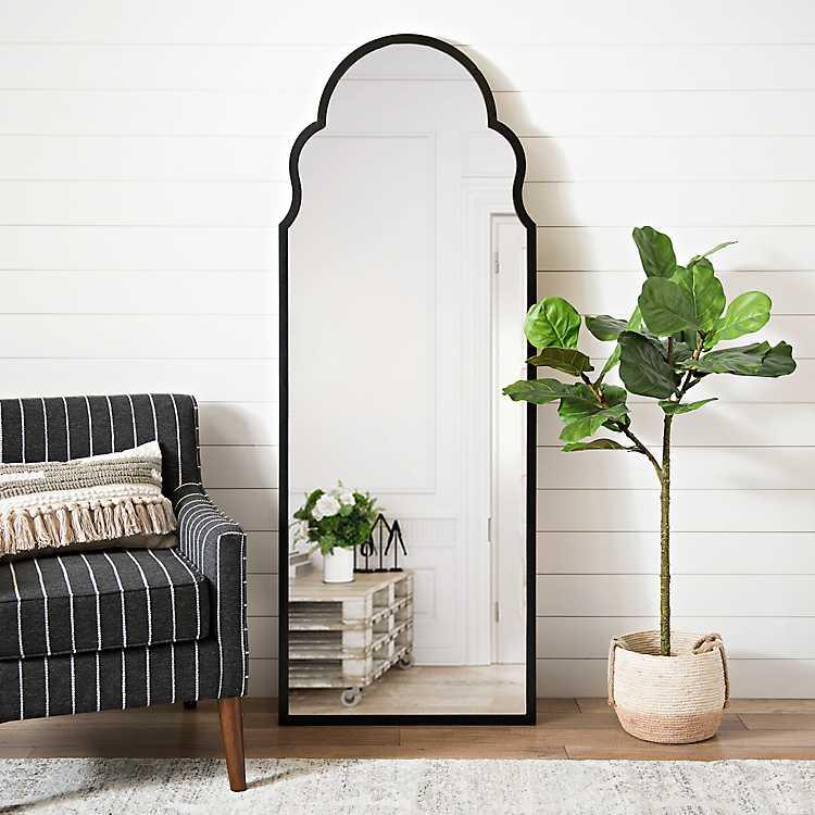 Maria Metal Black Arch Full Length Mirror Full Length Mirror