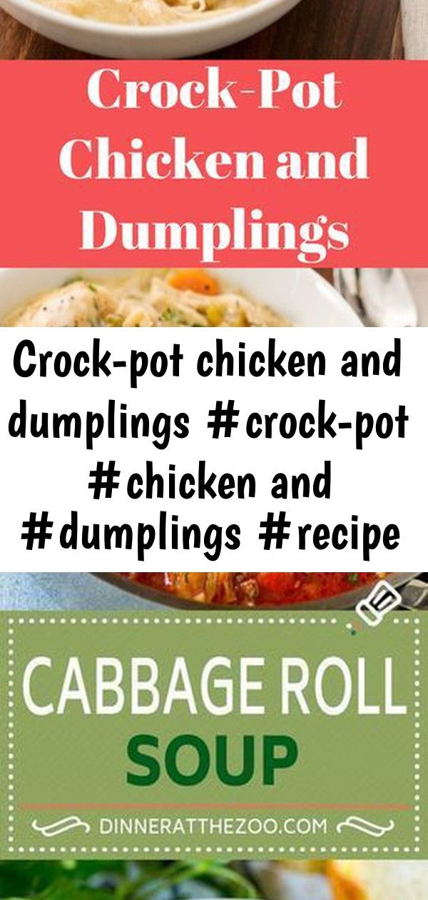 Crock-pot chicken and dumplings #crock-pot #chicken and #dumplings #recipe #meals 6 #chickendumplingscrockpot