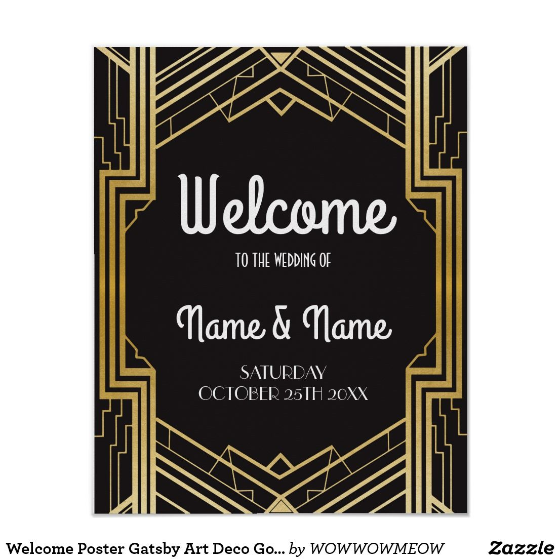 Create your own Poster | Zazzle.com | Wedding posters, Art deco jewelry  vintage, Art deco