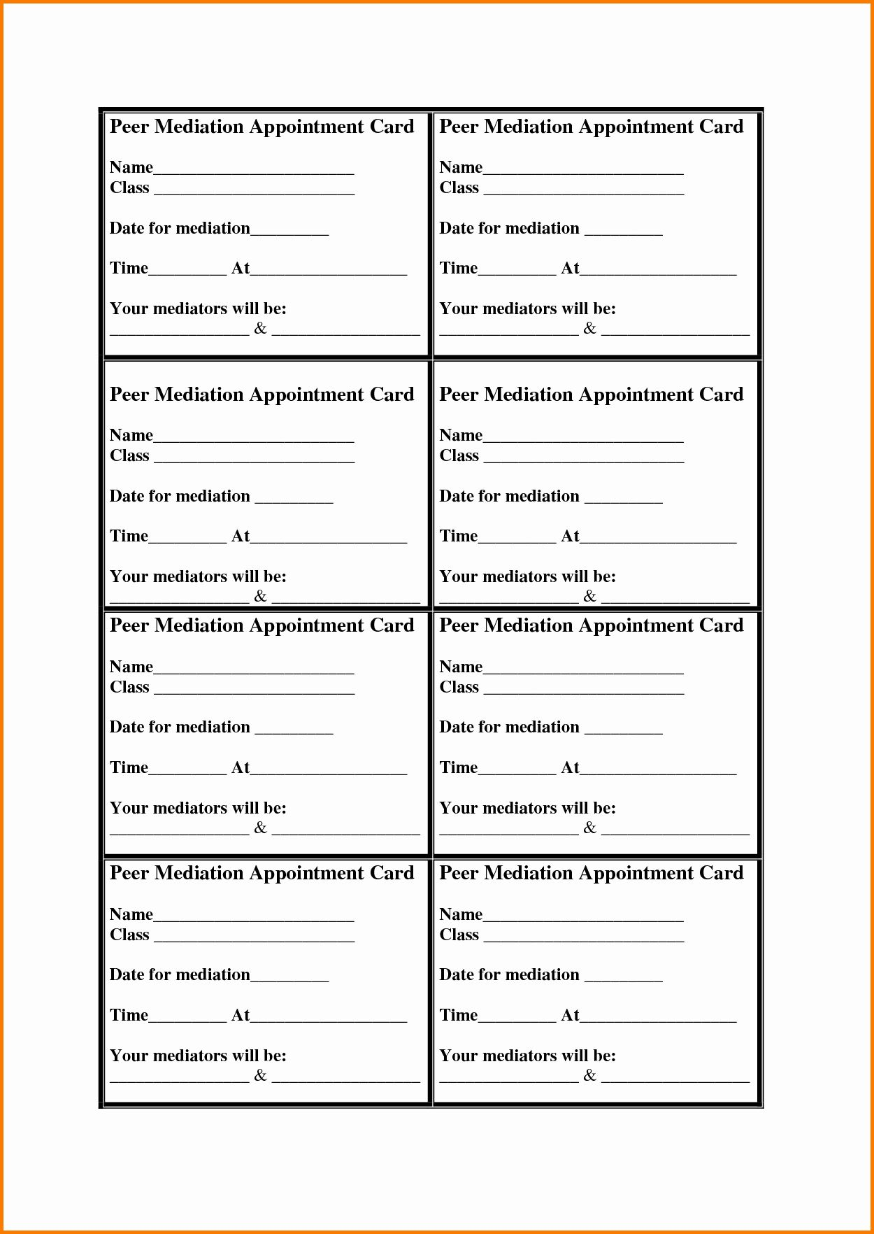 Appointment Reminder Card Template Free Fresh Appointment Cards Template Card Templates Free Appointment Cards Card Template Appointment reminder cards template free