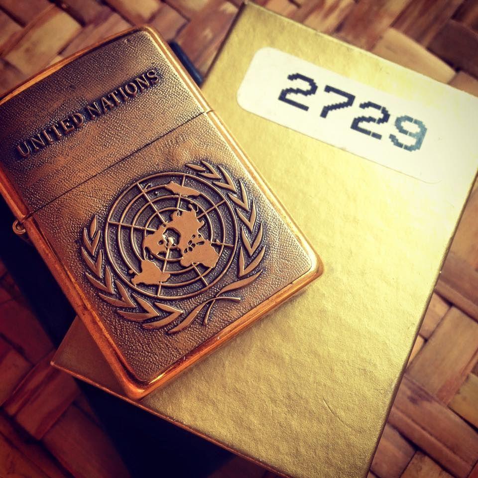 Zippo United Nations Brass Emblem Limited 3000 Zippo Zippo Lighter Brass Copper
