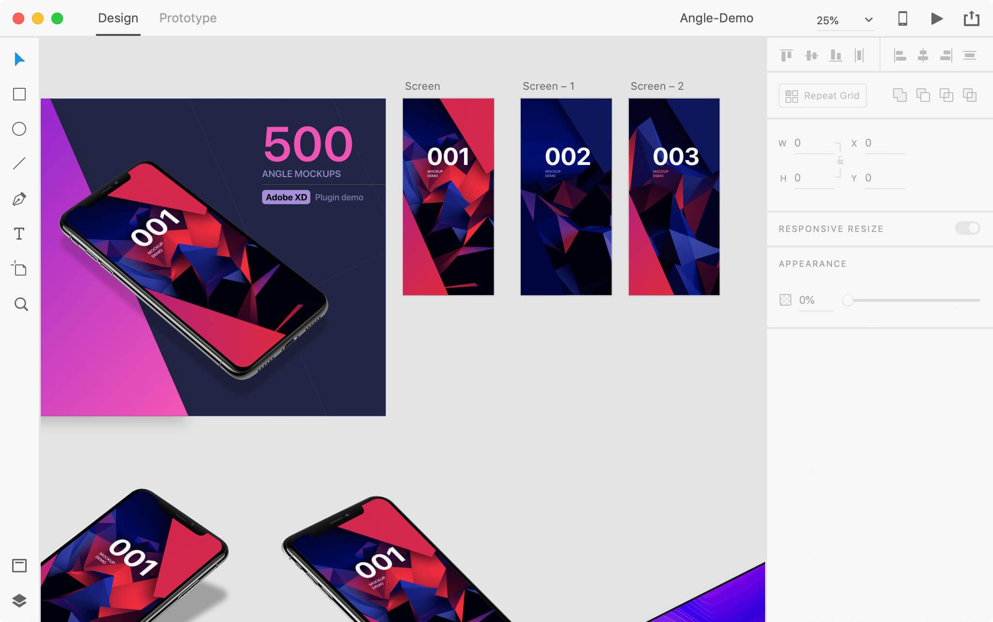Angle Sh Mockup Adobe Xd Mockup Figma