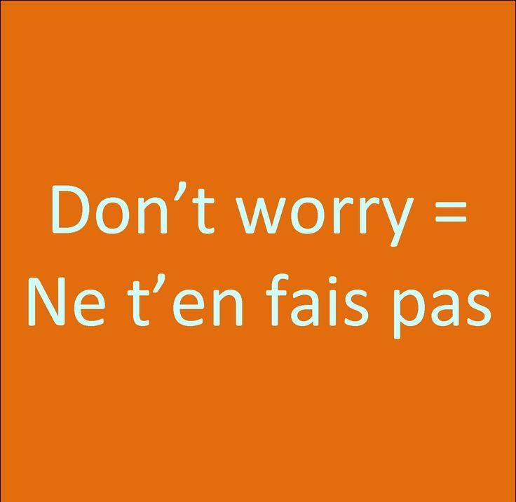 Sorgen Französisch