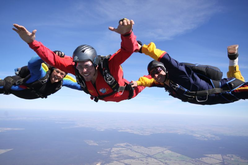 Aff Skydive Nagambie Skydiving Experience Paragliding Skydiving