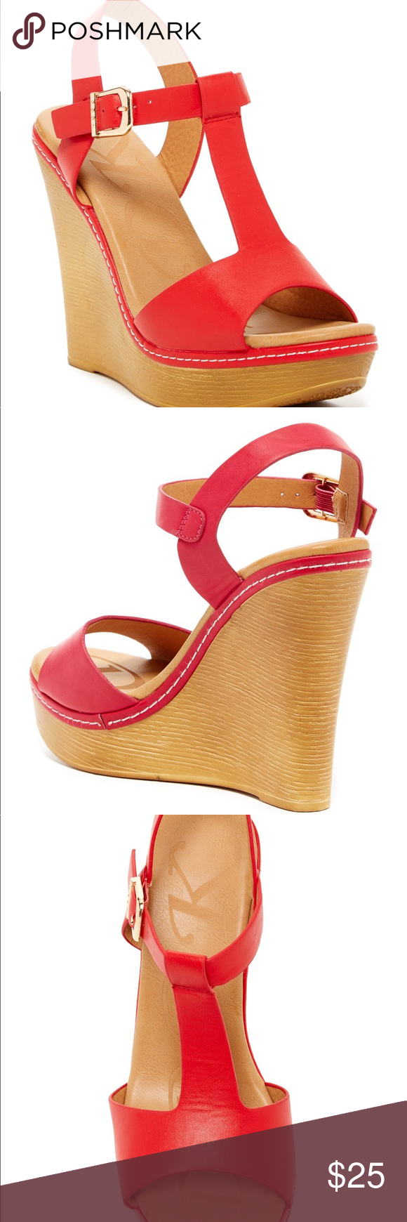 Elegant Footwear Nassa Wedge Sandal NWOT This wedge sandal