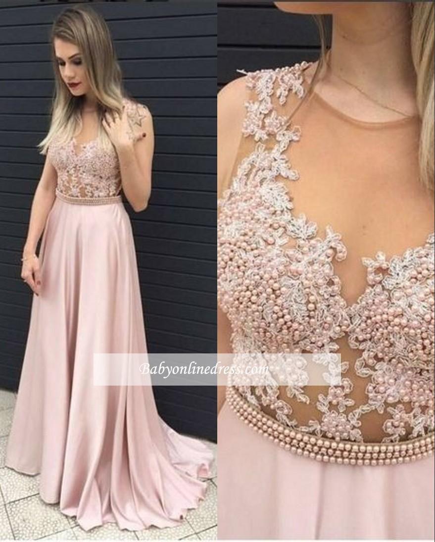 3875375dc1b Perfekte Rosa Abschlussballkleider Lang Perlen Satin Bodenlang Abendmoden  13 schicke Ideen zum Nachmachen  abschlussballkleideralinie