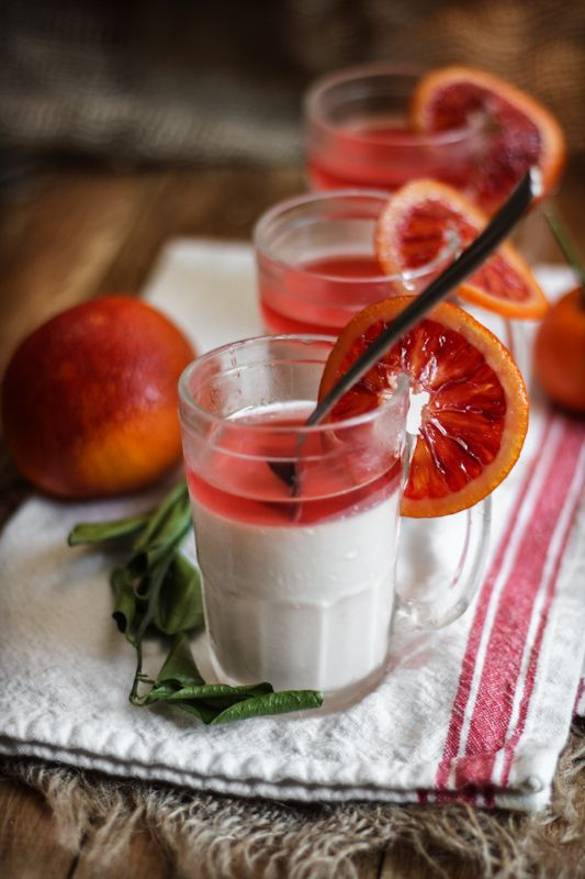 Italian Blood Orange Panna Cotta.  Often cited as a traditional dessert of the northern Italian region of Piedmont.