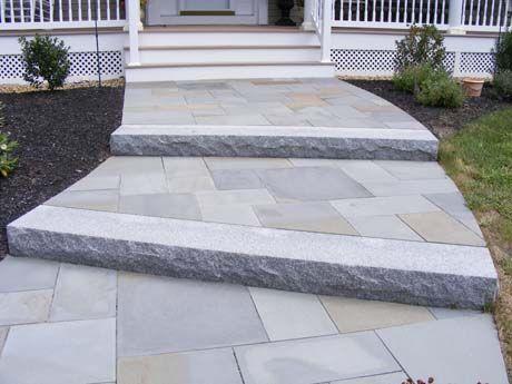 Best Monolithic Granite Step With Random Rectangular Bluestone 400 x 300