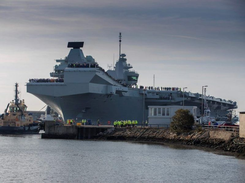 HMS Prince of Wales sets sail for the first time ...Spanish Aircraft Carrier Prince Of Asturias