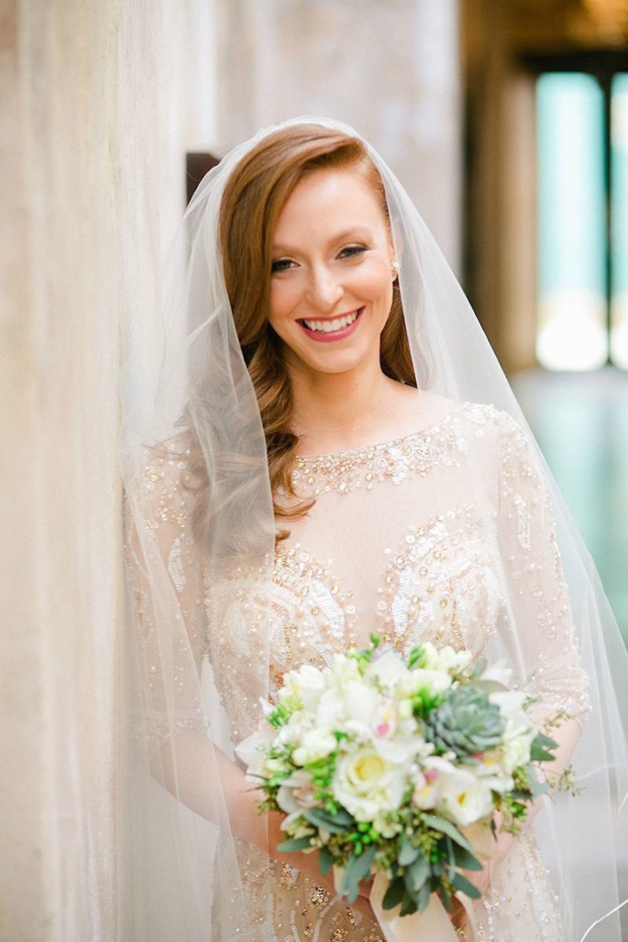 A Gold Beaded Gown Set The Stage For A Glam Puerto Rican Wedding In 2020 Wedding Dress Inspiration Beaded Gown Beaded Wedding Gowns