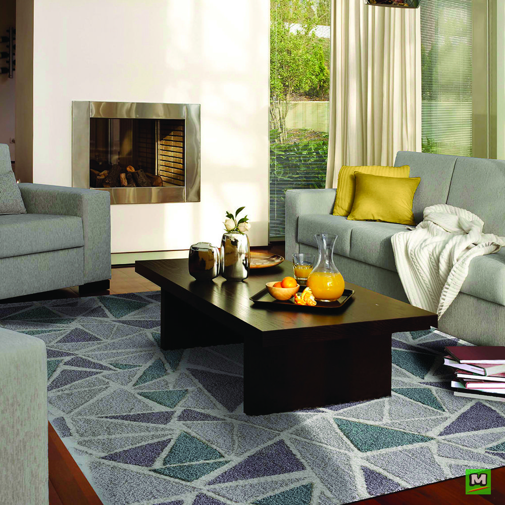 This stylish Natco Home® Cirrus Parchment Cloud area rug