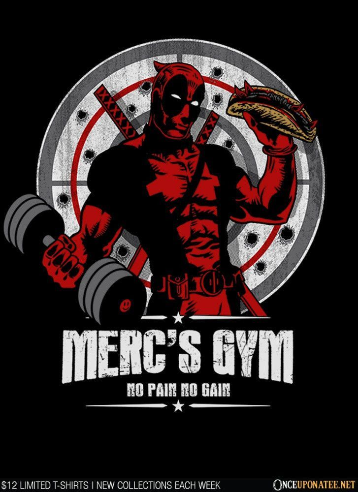 7ba8b75e2 Pin by Superhumanitee on T-shirt Daily Deals | Gym shirts, Deadpool ...
