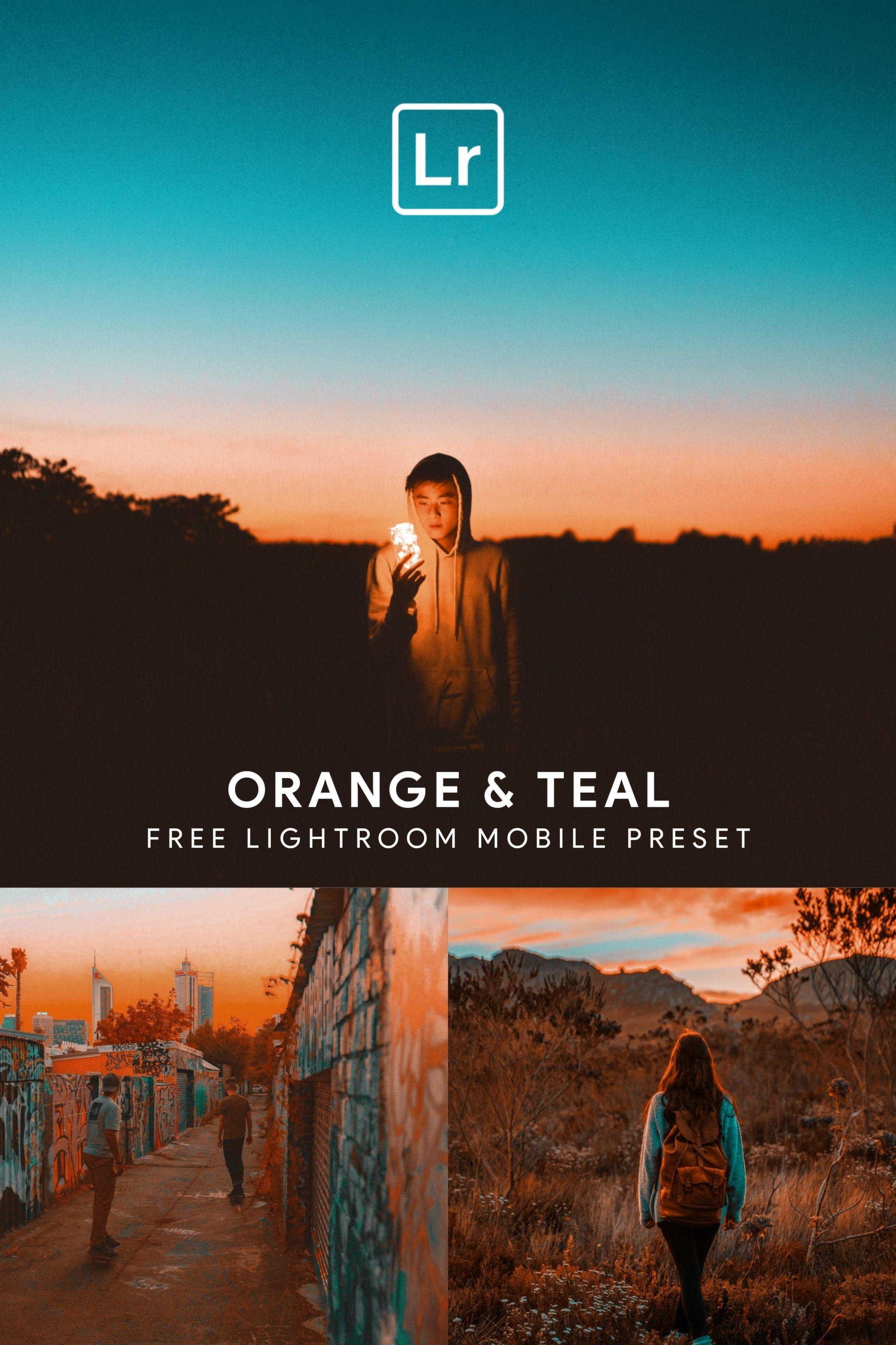 Orange and teal lightroom
