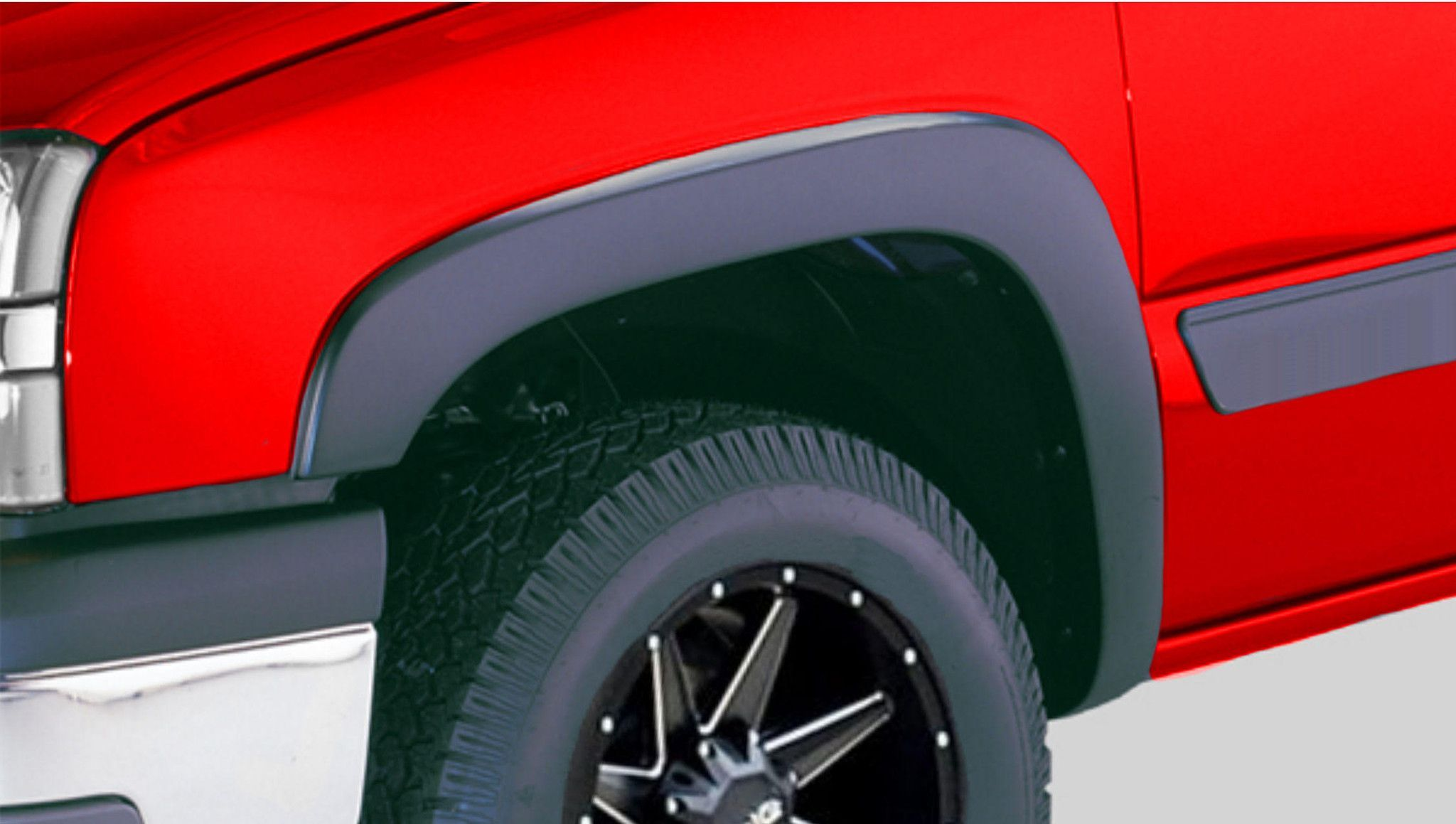 hight resolution of fender flares fit 99 06 chevrolet avalanche suburban and gmc sierra yukon xl set of 4 paintable matte black