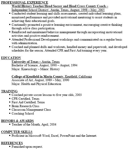 coach resume template head samples examples baseball etusivu - soccer resume for college