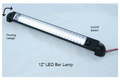 led bar light pivoting water resistant 12 lamp 12 volt dc led courtesy convenience lamp 12 with onoff switch flood lighting ama 35