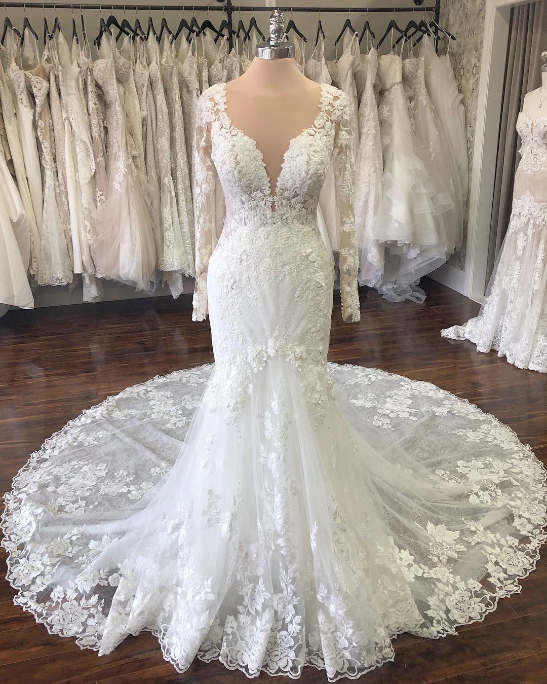 The Wedding Studio Weddingstudiocarmel Instagram Photos And Vide Long Sleeve Wedding Dress Lace Long Train Wedding Dress Cheap Long Sleeve Wedding Dresses