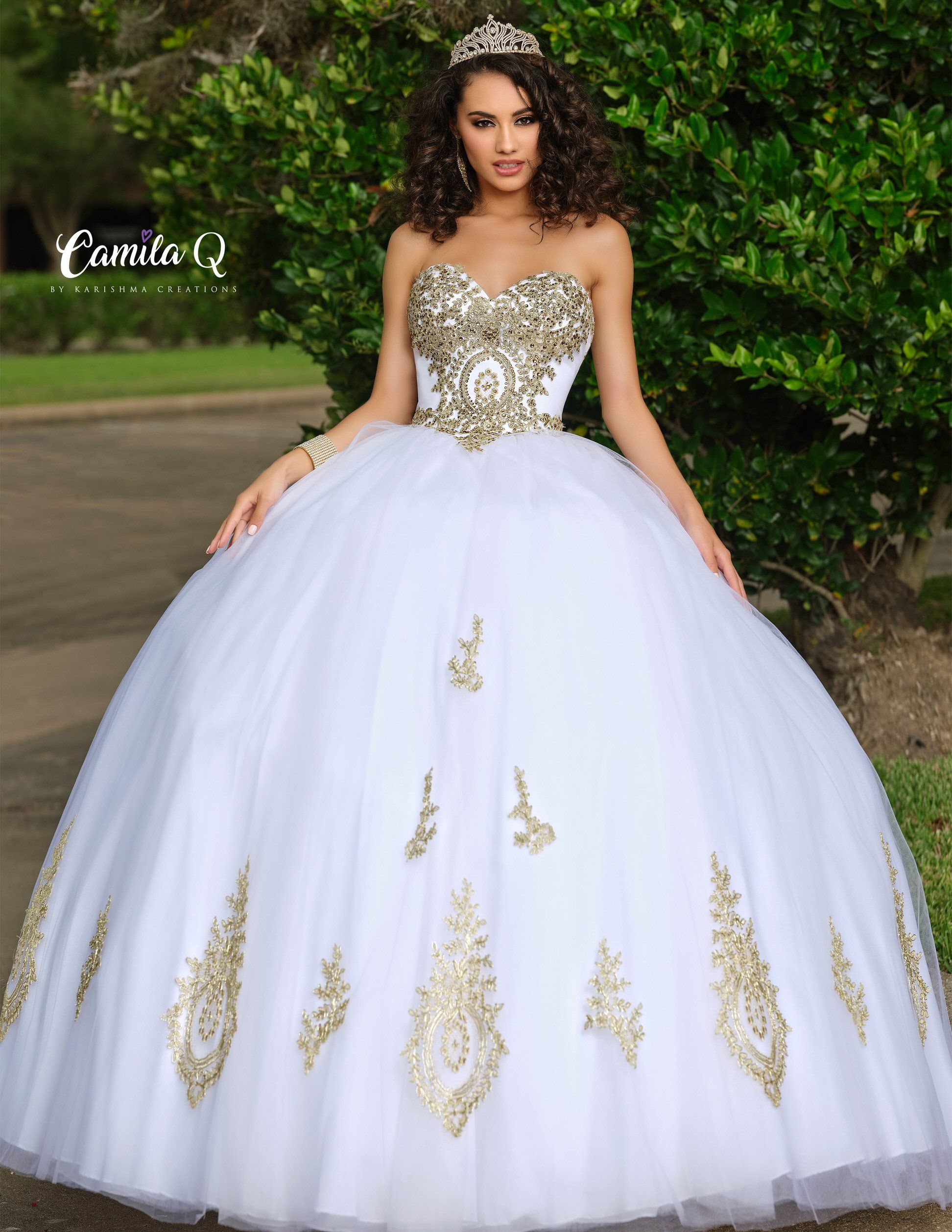 Camila Q 17010 Quinceanera Dress Ballgown Tulle Applique Strapless Sweetheart Gown In 2021 Pretty Quinceanera Dresses White Quinceanera Dresses Quinceanera Dresses Gold [ 2516 x 1944 Pixel ]