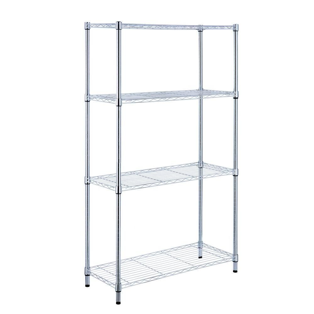Merveilleux HDX Four Shelf Storage Unit Is Ideal For Creating Storage Space In Any Room  For Commercial And Industrial Or Residential Use.