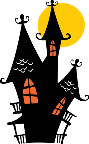 Halloween Minus Casas Embrujadas De Halloween Siluetas De Halloween Dibujos De Halloween