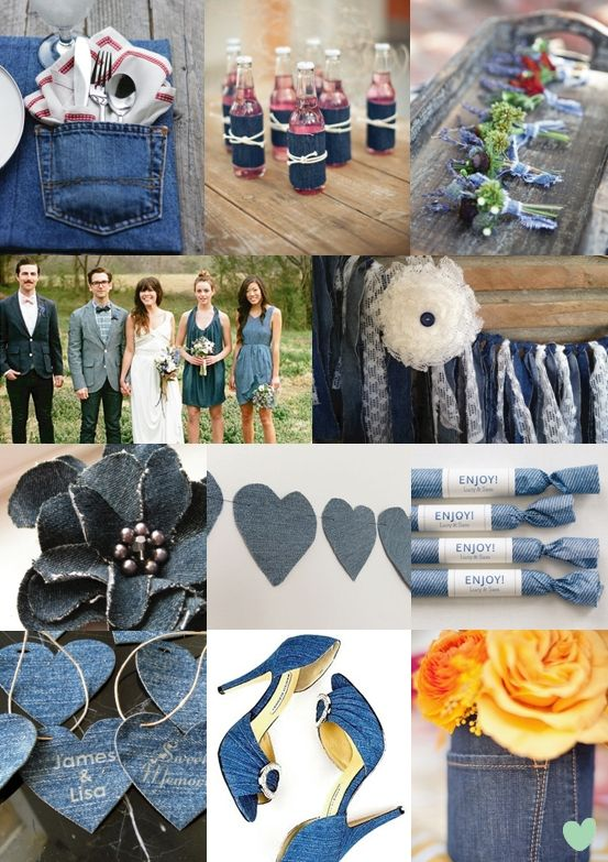 denim wedding styling - moody monday