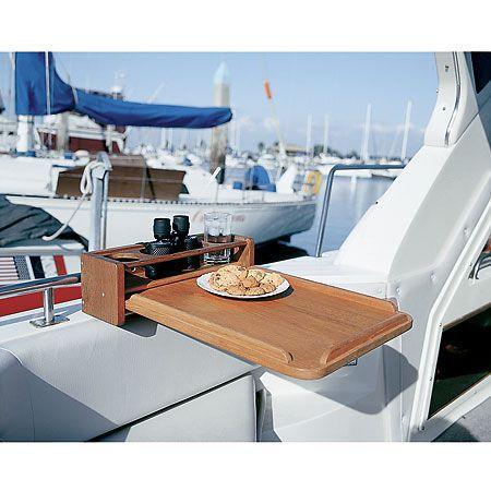 SeaForce Teak Four Drinkholder W/Removable Cockpit Table