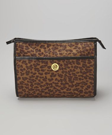 Love this Brown Leopard Cosmetic Case on #zulily! #zulilyfinds